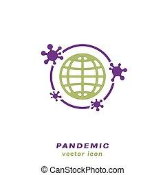 pneumonia, icono, influenza, pandemia