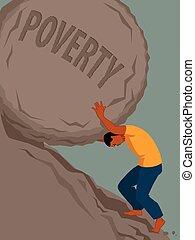 pobreza, lucha, interminable