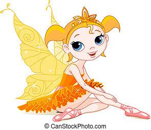 poco, hada, naranja, bailarina