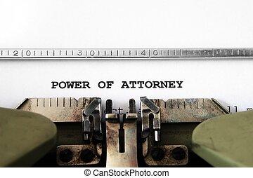 Poder de abogado