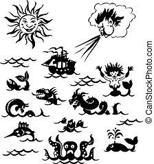 Poderosos monstruos marinos