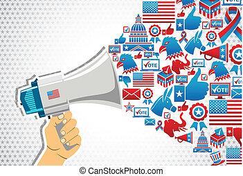 política, mensaje, elections:, promoción, nosotros