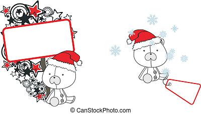Polar oso claus caricaturas de caricatura
