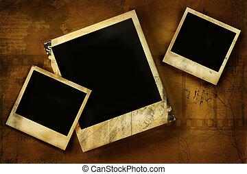 polaroid, viejo, grunge, contra, plano de fondo