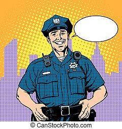 policía, bueno, policía