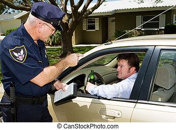 Policía, conducir borracho