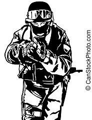 policía, fuerzas especiales