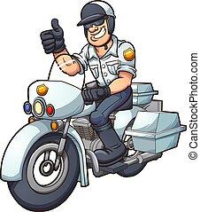 policía, motocicleta
