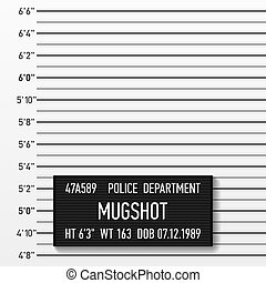 policía, mugshot