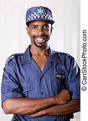 Policía sudafricano
