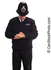 policía, timecheck.