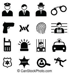 Policía y iconos del crimen