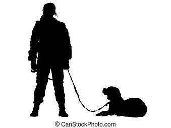 Policía y perro