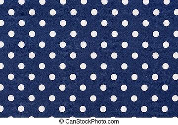 Polka azul marino puntea textura de tela.