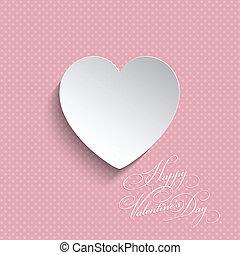 Polka Dot Valentines corazón fondo