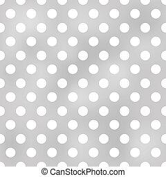 Polka sin costura marca patrón gris