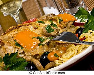 Pollo al horno italiano