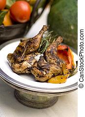Pollo asado con romero