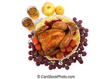 Pollo asado o pavo
