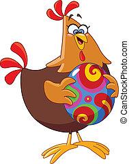 Pollo con huevo del este