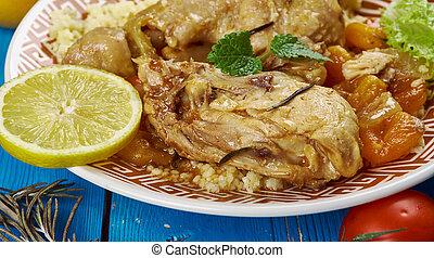 Pollo de albaricoque de Maghreb Moroccan