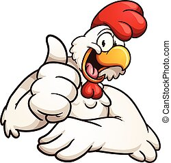Pollo de dibujos animados