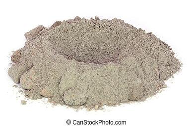 Polvo de cemento gris