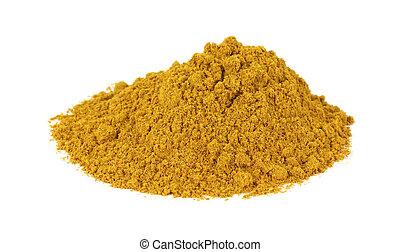 Polvo de Curry en blanco