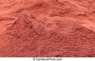 Polvo de ladrillo rojo