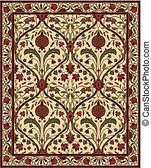 pomegranate., alfombra
