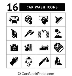 Pon iconos de lavado de autos