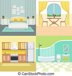 Pon ilustraciones modernas en el interior de la casa