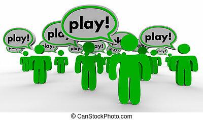 """Pon la palabra """"burbuja"""", """"diversión de la gente"""" en la palabra ilustración 3D"""