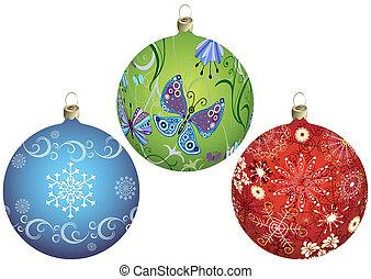 Pon las bolas de Navidad