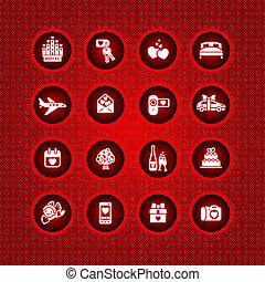 Pon los iconos del día de San Valentín