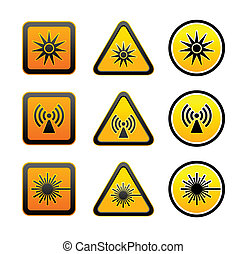 Pon símbolos de advertencia de peligro