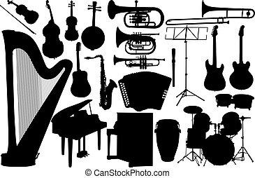 Pon un instrumento de música