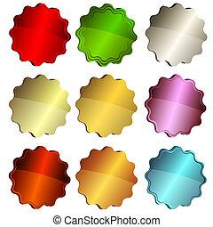 Pongan etiquetas de estrellas coloridas