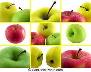 Pongan fotos de manzanas.