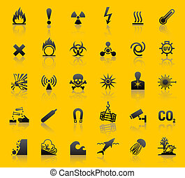 Pongan símbolos de peligro