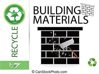 Por favor reciclan materiales de construcción