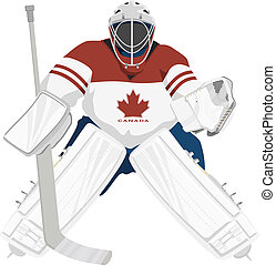 portero, hockey, canadá, equipo