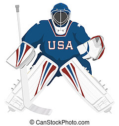 portero, hockey, estados unidos de américa, equipo