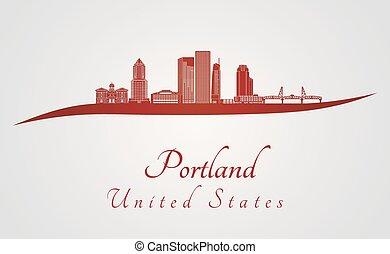 portland, rojo, v2, contorno