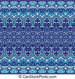 portugués, azulejo, patterns., magnífico, blanco, seamless, azul, tiles.