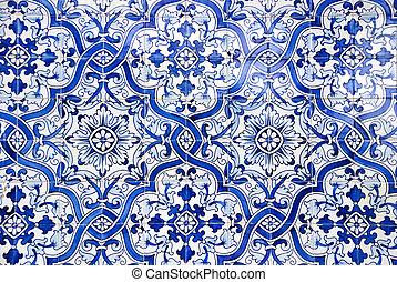 portugués, azulejos, azulejos