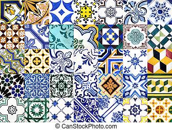 portugués, barnizado, azulejos