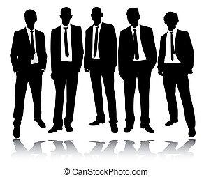 posición, grupo, hombres de negocios