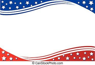 postal, patriótico, frontera
