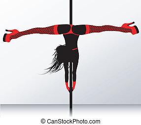 poste, erótico, strip-tease, dance.